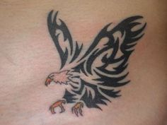 eagle tattoos   eagle in tribal style tattoo
