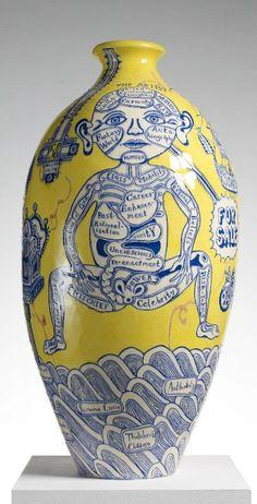 What makes an artist? Grayson Perry in conversation with Sarah Thornton – Talk at Tate Modern Contemporary Ceramics, Contemporary Art, Grayson Perry Art, Little England, Illustrator, Keramik Vase, Royal Academy Of Arts, Australian Art, Ceramic Artists
