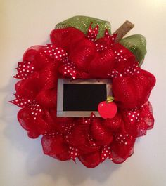 Hey, I found this really awesome Etsy listing at https://www.etsy.com/listing/198758551/back-to-school-wreath-classroom-decor