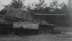 Wiking Division Panther immobilized with track damage, but the gun is in working order, and the crew continue to give fire support. Kovel sector, spring 1944.