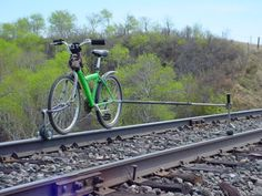 bicycle on railroad tracks - Google Search