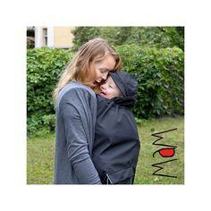 Manteau de grossesse et de portage en laine - Anthracite (Mamalila)    L automne de bébé   Pinterest 939a578d9d2