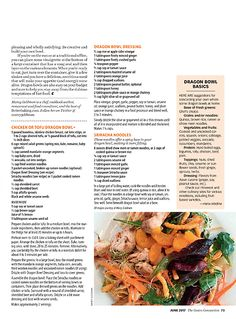 The Costco Connection magazine builds community among Costco members by combining information about what& new at Costco with a mix of lifestyle and small-business articles. Dragon Bowl, Veggie Pasta, Healthy Pastas, Good Enough To Eat, Vinaigrette, Chutney, Pot Roast, Veggies, Carne Asada