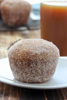 Apple Cider Donut Muffin Recipe from /bakedbyrachel/