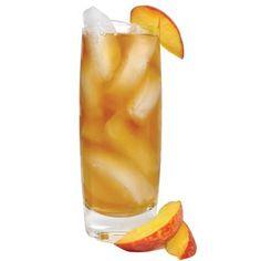 Skinny Peach Tea with Van Gogh BLUE Vodka and Diet Snapple Peach Iced-Tea.
