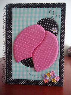 Delicadezas de Mamãe: Caderno em Patchwork Embutido! Altered notebook.  Notebook. Cuaderno decorado. Libro alterado. Book.