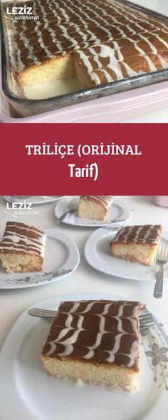 Triliçe (original recipe) - my delicious food - - Cake Recipes, Dessert Recipes, Bread Recipes, Cooking Sweet Potatoes, Arabic Sweets, Dessert Bread, Turkish Recipes, Cheap Meals, Unique Recipes