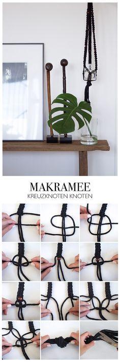 Makramee Kreuzknoten Step by Step Anleitung - DIY Blog lindaloves.de