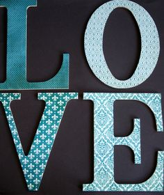 Teal Decorative Letters - LOVE Sign - Wedding Photography Prop - Teal Wedding Decoration. $40.00, via Etsy.