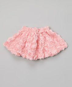 Look at this #zulilyfind! Light Pink Rosette Skirt - Toddler & Girls #zulilyfinds