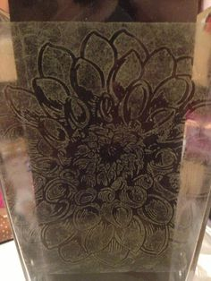 Beautiful Jumbo Dahlia etched vase with stamps. Stampendous Blog