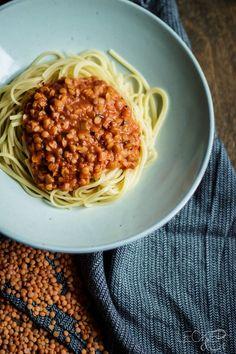 Pasta mit Linsen Bolognese - LECKER&Co | Foodblog aus Nürnberg