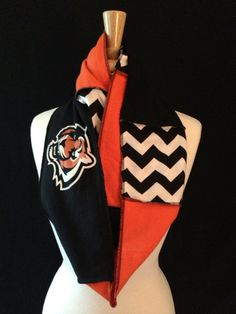 Cincinnati Bengals Infinity Scarf by poshCreationsCincy on Etsy, $32.00
