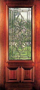 Front Doors with Glass | Beveled Glass Mahogany Doors & Windows ...