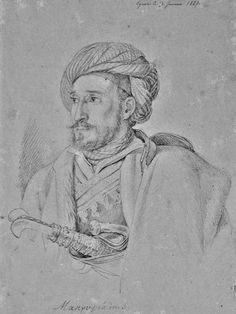 Ο Ιωάννης Τριανταφύλλου ή Μακρυγιάννης στην Αίγινα Μολύβι σε χαρτί