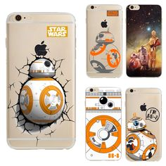 Star Wars The Force Awakens Bb-8 Droid Robot Coque For Iphone 6 Transparent Case Soft Tpu Cover For Iphone 6s 4.7
