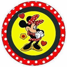 Minnie Roja: Toppers y Wrappers para Cupcakes para Imprimir Gratis. Minnie, Mickey Mouse, Blogger Templates, Tree Skirts, Christmas Tree, Club, Holiday Decor, Diy, Free