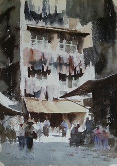 Edward Seago | Street Corner, Kowloon