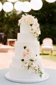 Wedding cake - fleurs