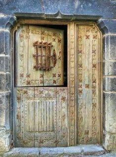 Speakeasy Dutch Door from Ansó, Aragón. Grand Entrance, Entrance Doors, Doorway, Cool Doors, Unique Doors, Knobs And Knockers, Door Knobs, When One Door Closes, Door Entryway