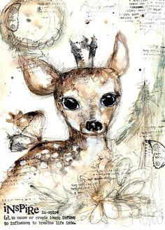 Deer Magic art print