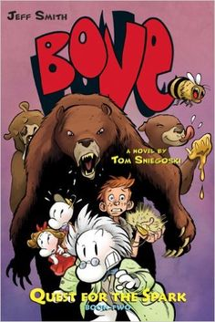 Bone: Quest for the Spark Book Two: Tom Sniegoski, Jeff Smith: Roller Coaster Theme, Best Roller Coasters, Bone Jeff Smith, Bone Comic, Rat Queens, Bone Books, Shocking Blue, Amusement Park, Cover Art