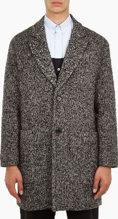 Herringbone Coat, Oversized Coat, Silhouettes, January, Mens Fashion, Mood, Shirt Dress, Mens Tops, Black