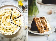 Cardamom & Pistachio Carrot Cake + Orange Blossom & Honey Labneh // butterlust.com