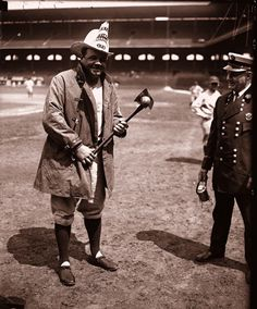 1928: Babe Ruth in a Chicago Fire Department uniform  ( Chicago Tribune archive photo / June 13, 2012 )