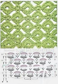 cool crochet stitch chart - for Maggie's scarf wrap - Teresa Restegui…Crochet Patterns Techniques FREE Stitch pattern (Crochet) – Pinned by intheloopcrafts.crochet stich - lion brand honeycomb hat uses this Crochet Stitches w/ diagrams. Crochet Instructions, Crochet Diagram, Crochet Chart, Crochet Motif, Diagram Chart, Crochet Blouse, Crochet Stitches Patterns, Knitting Stitches, Stitch Patterns
