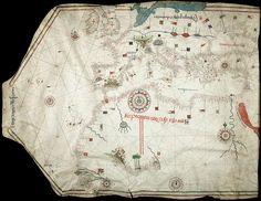 Portolan Chart by Jorge Aguiar, 1492 - Retronaut