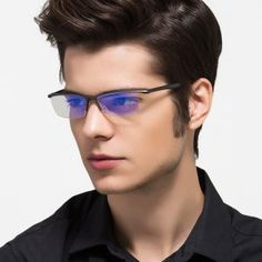 Aluminum Magnesium Anti Blue Laser Fatigue Radiation-resistant Men's O – novahe Men's Optical, Laser, Fashion Eye Glasses, Men Eyeglasses, Models, Mens Glasses, Watches, Glasses Frames, Prescription Lenses