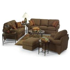 Prelude Champagne Living Room Set: Sofa, Loveseat and Chair | For ...