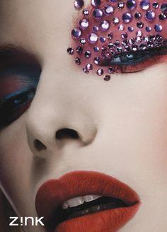 makeup, dramatic makeup, colorful makeup, beauty