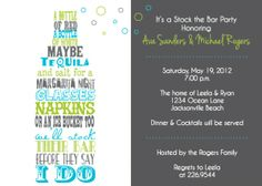 Stock The Bar Party Invite