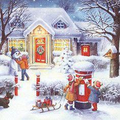 ペーパーナプキン(33)home:(20枚)Enjoying Christmas Time-HO147