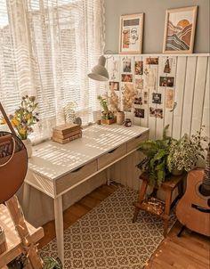 Study Room Decor, Room Ideas Bedroom, Bedroom Decor, Aesthetic Room Decor, My New Room, House Rooms, Room Inspiration, Interior Design, Design Design