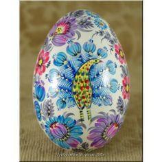 Hand Painted Goose Egg Petrykivka Ukrainian Pysanka
