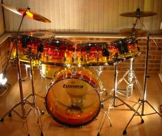 Own a totally bitchin drum kit like this with a double bass pedal and play...for real