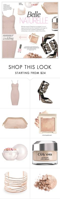 """""""Summer Weddings: Wedding Guest"""" by shambala-379 ❤ liked on Polyvore featuring Burberry, Guerlain, Olay, Alexis Bittar, Anastasia Beverly Hills and Topshop"""