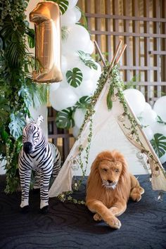 Minimalist Safari Birthday Party on Kara's Party Ideas | KarasPartyIdeas.com (9)