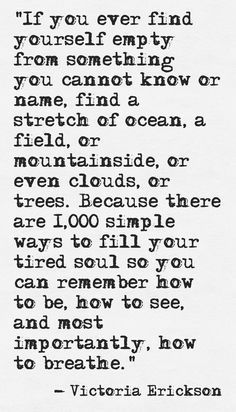 Finding yourself empty?