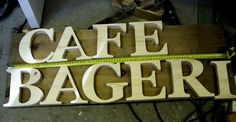 Scroll sawed wooden letters
