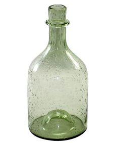 Fisherman's Glass Bottle - Antique Green