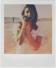 i really love the idea of a polaroid with someone in it.