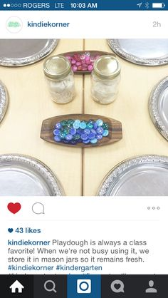 Great storage idea and fine motor/math/design provocation from http://instagram.com/kindiekorner