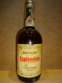 BRANDY ESPLÉNDIDO GARVEY. JEREZ. BOTELLA DE 1 LITRO SIN ABRIR. PRECINTO 8 PESETAS.