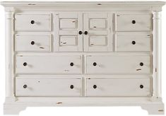 Claymore Park Off-White Dresser. $599.99. 64W X 19D X 44H. Find affordable Dressers for your home that will complement the rest of your furniture.