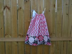 Pink Chevron Pillow Case Dress by BabyBirdsCloset on Etsy, $17.00