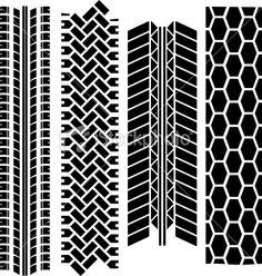 Tire tracks Royalty Free Stock Vector Art Illustration